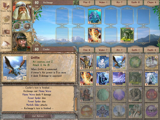 Strategy card game in fantasy style. Summon creatures and cast spells to win.